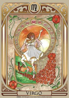 Print art with Virgo female of ZODIAC project developed by Mangarts Comic Studio. Zodiac Signs Astrology, 12 Zodiac Signs, Zodiac Horoscope, Zodiac Facts, Major Arcana Cards, Virgo Women, My Photo Gallery, Sun Sign, Fantasy Characters