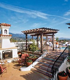 Overlook Downtown Santa Barbara on the rooftop of The Canary Hotel. Perfect venue and only a few blocks from Ablitt's to get your gown looking perfect for your big day!