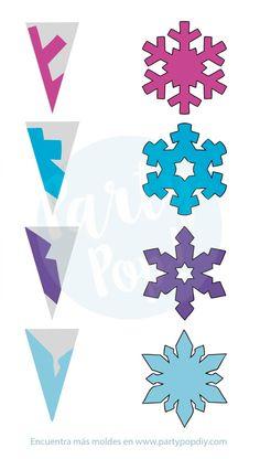 Christmas Crafts For Kids, Christmas Art, Holiday Crafts, Fun Crafts, Diy Christmas Snowflakes, Snowflake Party, Frozen Snowflake, Frozen Christmas, Santa Crafts