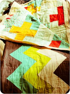 a little of this and that by badskirt - amy, via Flickr-  use this idea for a double sided quilt.