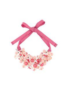 Shop P.A.R.O.S.H. floral motif necklace.