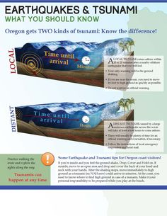 Earthquakes & tsunami, what you should know. Oregon gets two kinds of tsunami : know the difference! by Oregon Emergency Management