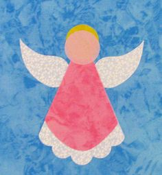 FIVE angel appliques, Christmas angels. These beautiful angels have been precision cut from 100% premium quality cotton to embellish your sewing