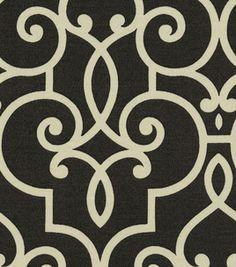 Home Decor Outdoor Canvas- HGTV Treillage Onyx & home decor fabric at Joann.com