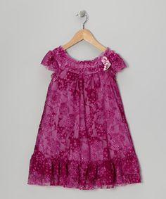 Take a look at this Purple Rosette Swing Dress - Toddler & Girls by Pink Vanilla on #zulily today!