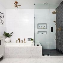 61+Top Secret Facts About White Herringbone Shower Tile Master Bath Revealed by the Experts - bloggerathome.com