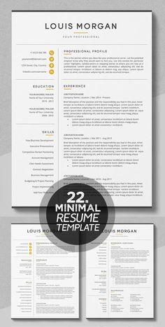 Resume / CV - The Louis - Cv Resumes - CV Examples - Resume Examples - Resume Images Visual Resume, Basic Resume, One Page Resume, Professional Resume Examples, Design Social, Web Design, Layout Design, Design Trends, Modern Resume Template