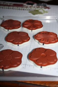 Lining up the Pansy stamps to make it easy to punch out -- BRILLIANT!
