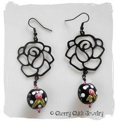 Unique Rose earrings