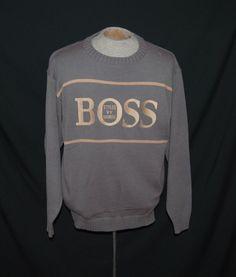Hugo Boss Sports Sweater XL Limited Edition Crew Neck Long Sleeve Gray Solid #HugoBossSports #Crewneck