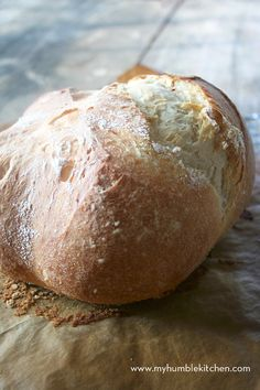 Could You Eat Pizza With Sort Two Diabetic Issues? Simple, European Style, Everyday Bread Recipe With Video - My Humble Kitchen Real Food Recipes, Cooking Recipes, Yummy Food, Swiss Recipes, Oven Recipes, Easy Cooking, Easy Recipes, Everyday Bread Recipe, Tasty Bread Recipe