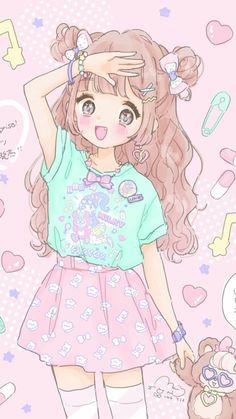 Anime, fashion, and sweet lolita image anime style, cute art, anime kawaii Kawaii Anime Girl, Loli Kawaii, Kawaii Chibi, Anime Girl Cute, Anime Girls, Cute Kawaii Girl, Manga Anime Girl, Arte Do Kawaii, Kawaii Art
