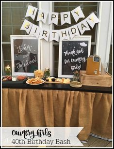 40th birthday theme party--Thank God for Country Girls--perfect for a birthday, wedding or bridal shower for a country girl at heart!