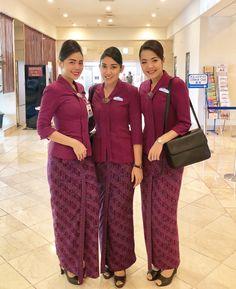 【Indonesia】 Garuda Indonesia cabin crew / ガルーダ・インドネシア航空 客室乗務員 【インドネシア】