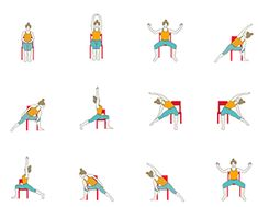 Women who want to take their practice slow and deep can use a chair as a variation for the practice of the regular Moon Salutation (Chandra Namaskar). Women who are Senior Citizens, Pregnant, in Postn Sanftes Yoga, Vinyasa Yoga, Yoga Meditation, Yin Yoga, Pilates Yoga, Kundalini Yoga, Pilates Reformer, Iyengar Yoga, Ashtanga Yoga