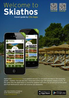 A travel guide for Skiathos island. Available for iphone and android phones by http://skiathos.cityapps.gr/