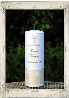 Christening - Little Bird Baptism Candle - Personalised Candles Sydney | Wedding, Christening, Baptism, Birth, Naming Day Candles | Adorned ...