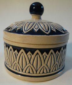 Jugendstil Keramik Dose Butterdose HÖHR Grenzhausen Westerwald Steinzeug UM 1910   eBay