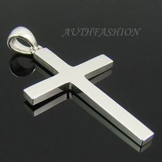 Gold Chain Men Gifts Mens Sterling Silver 925 Simple Cross Pendant for Chain Necklace Charm Mens Silver Necklace, Silver Jewelry, Jewlery, Men's Jewelry, Indian Jewelry, Jewelry Ideas, Diamond Jewelry, Jewelry Watches, Silver Rings