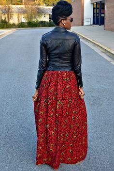 Inspiration - Maxi jupe rouge par Nikki Billie Jean - Pagnifik