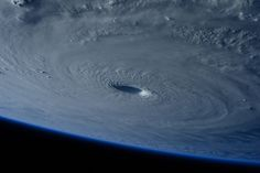Typhoon Maysak is photographed by the astronaut Samantha Cristoforetti from the International Space Station on <span>March 31, 2015</span>. The <em>Pacific Daily News</em> in Guam reports the storm was upgraded Tuesday to a super typhoon with winds of 150 mph and was moving west-northwest at 15 mph. Officials say Super Typhoon Maysak is expected to significantly weaken before reaching the Philippines around Sunday.