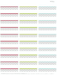Free Printable address labels with a Chevron pattern design.