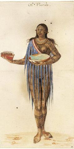 John White (English artist, c 1540-1593) Indian Woman of Florida