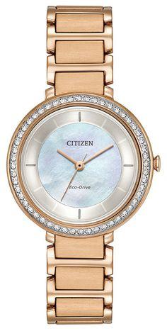 Brand New Citizen  ECO-DRIVE SILHOUETTE CRYSTAL FE1140-86D #CitizenEcoDrive #DressFormal