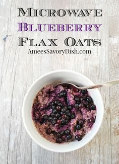 Microwave Blueberry Oatmeal. #breakfast #healthy