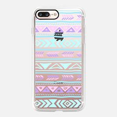 Casetify iPhone 7 Plus Case and other Pastel iPhone Covers - Pastel Tribals by Sara Eshak Casetify