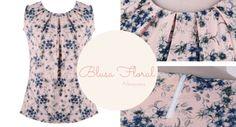 Blusa floral comprada no Aliexpress. Confira o post com look dessa blusa mais calça cenoura. Super recomendo! ;)