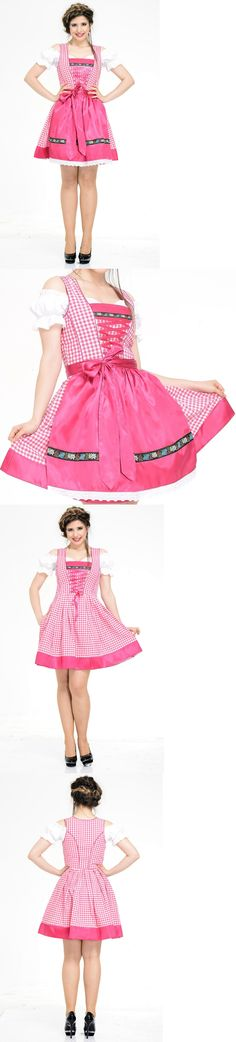 Dirndls 163143: Germany,German,Trachten,Oktoberfest,Dirndl Dress,3-Pc.Sz.14,Fuchsia,Edelweiss -> BUY IT NOW ONLY: $54.99 on eBay!