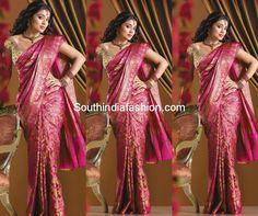 shriya saran bridal silk kanjeevaram wedding saree