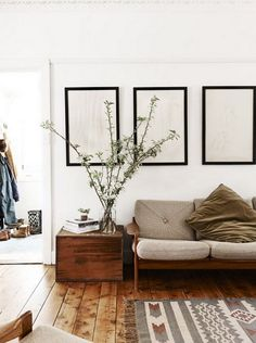 Love everything. White walls, those walls, the couch. #slowliving