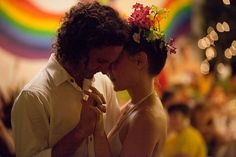 """From the pages of """"Offbeat Bride"""" - the rainbow themed wedding!! Check out this site for fabulous off beat weddings!! I love 'em all <3"""