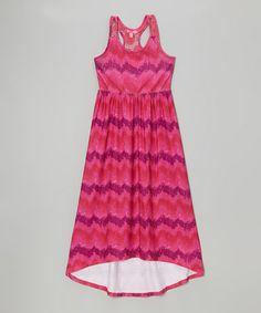 Look at this #zulilyfind! Fab Fuchsia Ikat Maxi Dress - Infant, Toddler & Girls by Cherry Stix #zulilyfinds