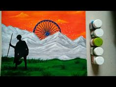 How to draw Republic day drawing easy India Painting, Flag Painting, Painting For Kids, Art For Kids, Independence Day Drawing, Independence Day Activities, Poster Rangoli, India Poster, Drawing Competition