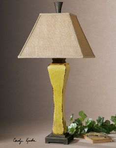 Uttermost Oratino Burnt Yellow Lamp