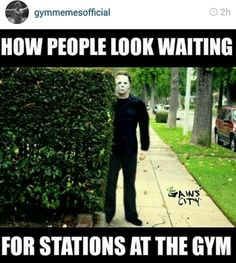 I try not to do it but I can't help it. Lol #gym creep #gym humor