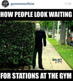 I try not to do it but I can't help it. Lol #gym creep #gym humor