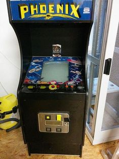 Phoenix 1980 arcade game cabinet