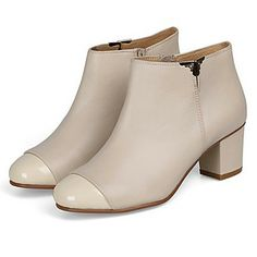 Calf Hair Women's Chunky Heel Ankel Boots With Zipper(More Colors) – CAD $ 119.10
