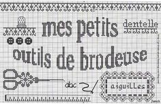 l'anniblog à vous de jouer les filles ! réponse le 22/12 - je  brode un peu beaucoup passionnément Small Cross Stitch, Cross Stitch Borders, Counted Cross Stitch Patterns, Cross Stitch Charts, Cross Stitching, Embroidery Sampler, Cute Embroidery, Cross Stitch Embroidery, Sewing Case