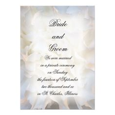 ReviewWhite Floral Marriage / Elopement Announcementtoday price drop and special promotion. Get The best buy