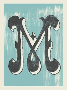 Letter M by methanestudios on Etsy #typography #M