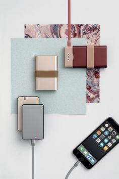 Lexon -  HOBO power bank, design Fellina Sok Cham - FINE power bank, design Pauline Deltour