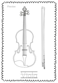 String Instruments Trace and Color Page Music Class, Music Education, Viola Instrument, Early Music, String Art Patterns, Elementary Music, Music Theory, Teaching Music, Music Lessons