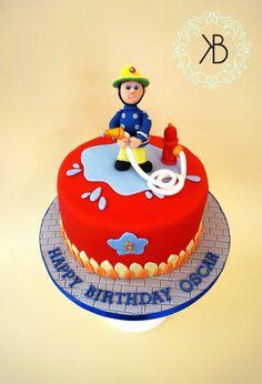 Fireman Sam cake! Firefighter Cakes, Fireman Sam Cake, Firefighter Birthday, 2 Birthday Cake, Boy Birthday, Beautiful Cakes, Amazing Cakes, Liverpool Cake, Call Of Duty Cakes