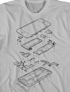 Camisa Vista Explodida