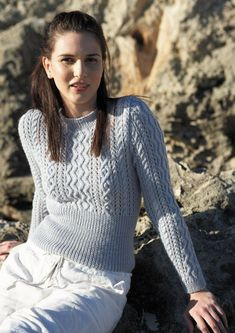 Lacy Cable Cardigan Knitting pattern by Jo Sharp